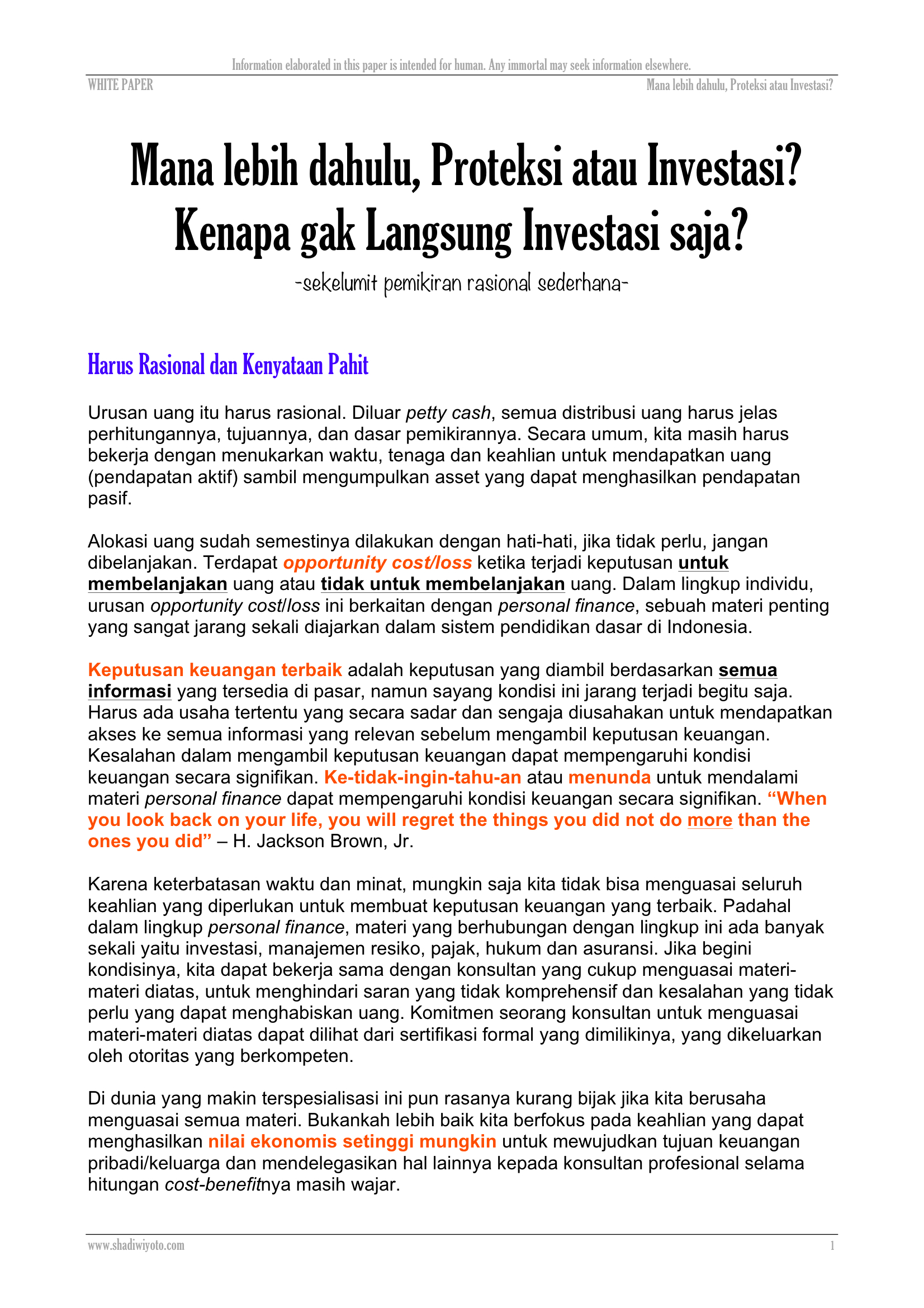 Proteksi dulu baru investasi v.1-1